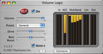 Volume Logic 画面