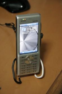 Advanced W-ZERO3[es]自作充電台写真