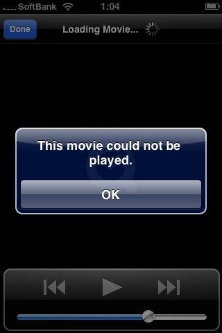 foltia iPhone 再生出来ないムービー