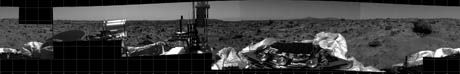 Mars Pathfinder Welcome to Mars 360-degree photomosaic